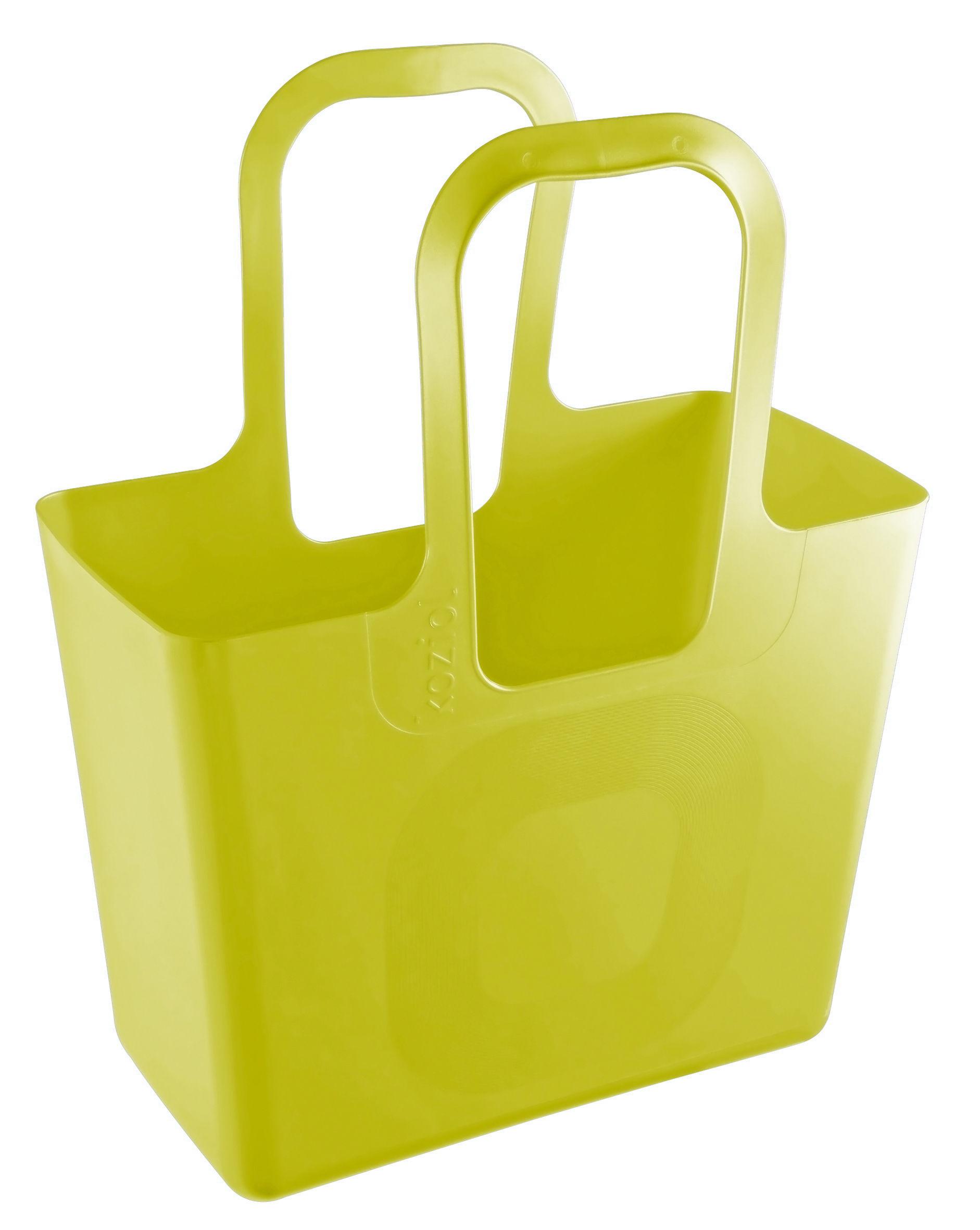 Decoration - For bathroom - Tasche XL Basket by Koziol - Mustard - Plastic material