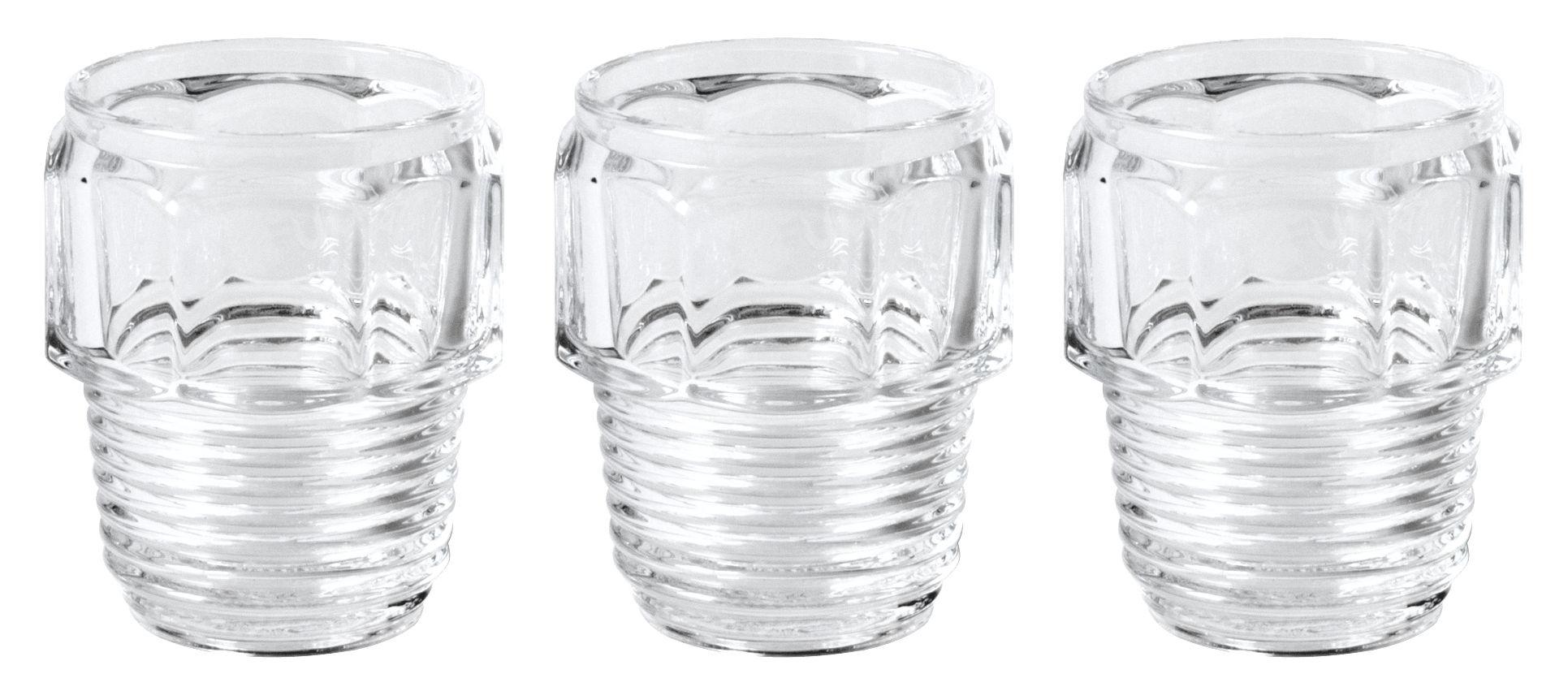 Tavola - Bicchieri  - Bicchiere Machine Collection - / H 10 cm - Set da 3 di Diesel living with Seletti - H 10 cm / trasparente - Vetro