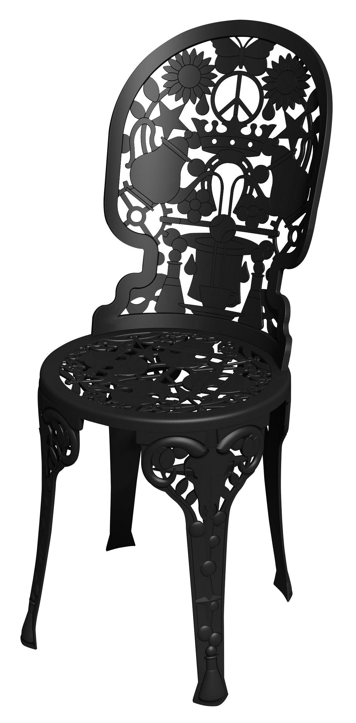Mobilier - Chaises, fauteuils de salle à manger - Chaise Industry Garden - Seletti - Noir - Aluminium