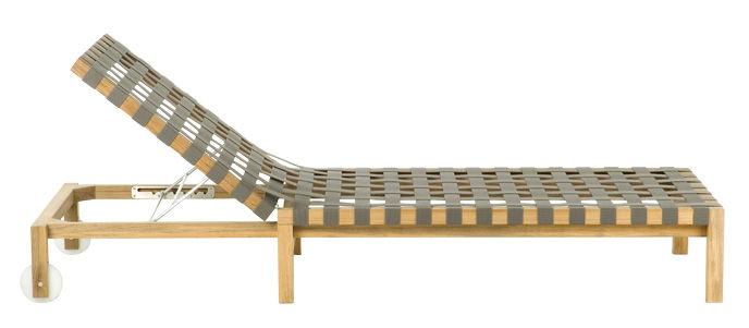 Chaise Longue Mistral Structure En Teck