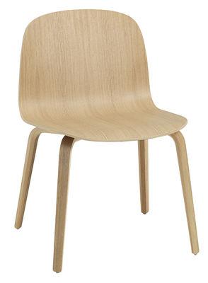 Chaise Visu Large / Bois - Muuto chêne naturel en bois