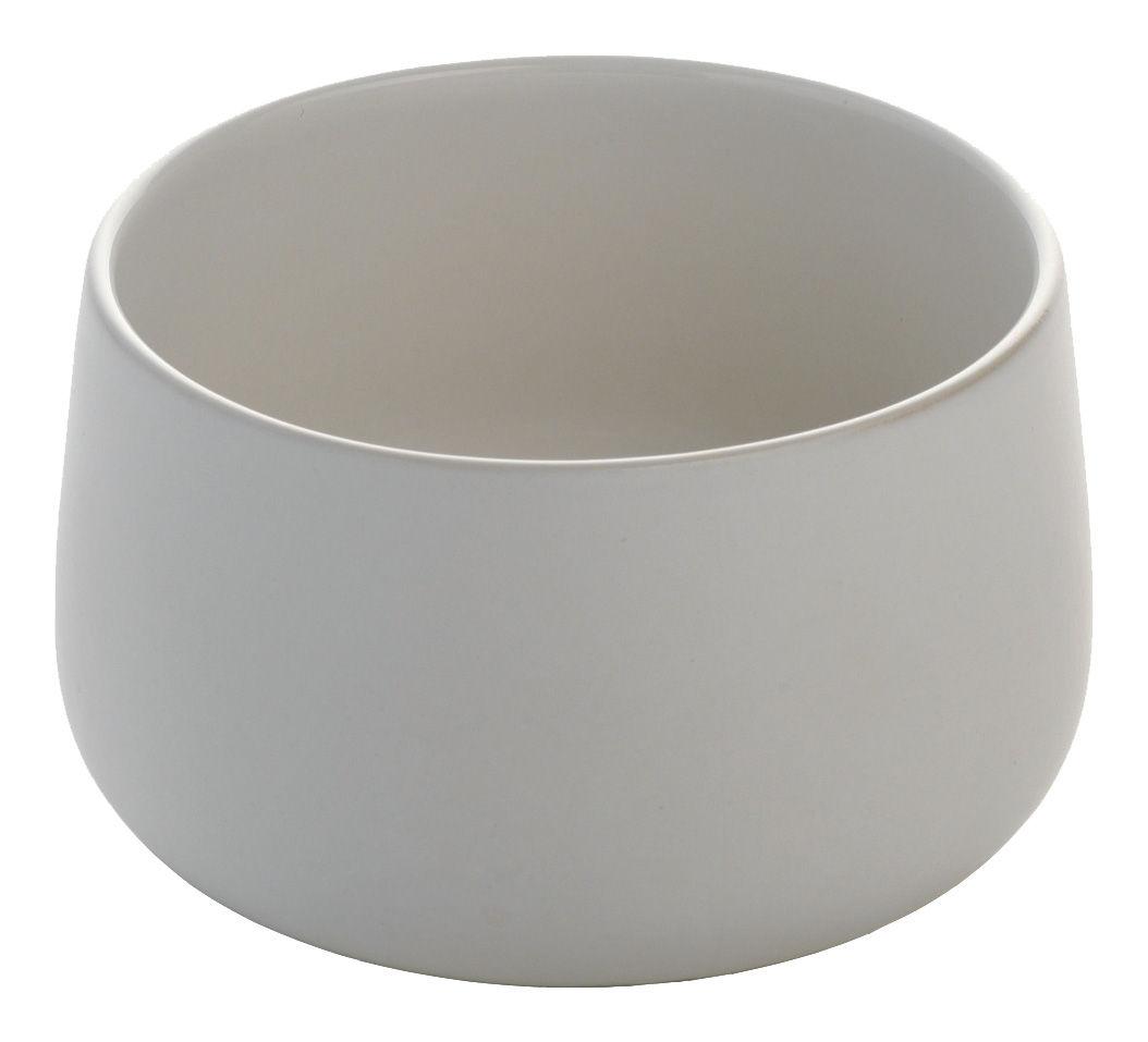Arts de la table - Saladiers, coupes et bols - Coupelle Ovale / Ø 12 x H 7 cm - Alessi - Blanc - Céramique Stoneware