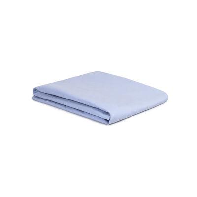 Drap plat 180 x 290 cm / Percale lavée - Au Printemps Paris bleu ciel en tissu