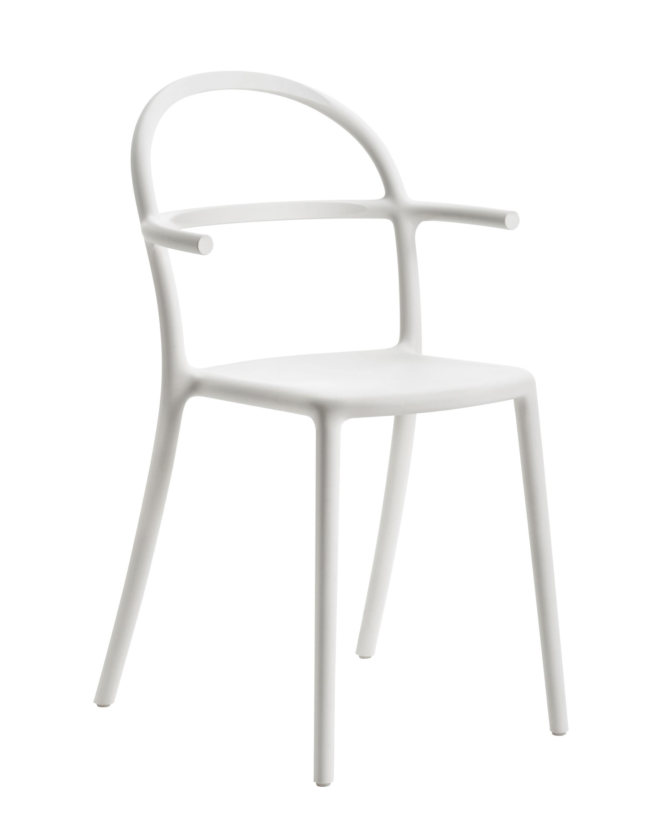 Mobilier - Chaises, fauteuils de salle à manger - Fauteuil empilable Generic C / Polypropylène - Kartell - Blanc - Prolypopylène
