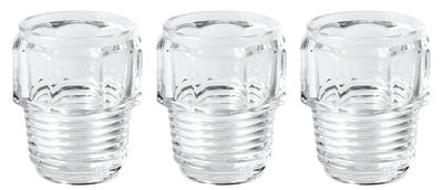 Tableware - Wine Glasses & Glassware - Machine Collection Glass - / Set of 3 - H 10,5 cm by Diesel living with Seletti - H 10 cm / Transparent - Glass
