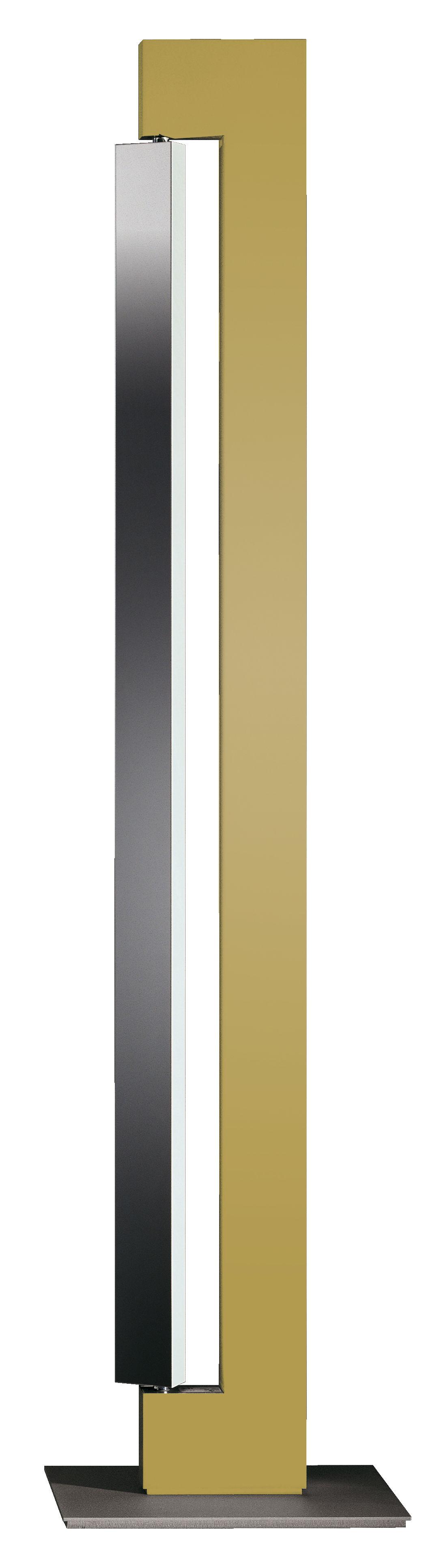Illuminazione - Lampade da terra - Lampada a stelo Ara di Nemo - Champagne - Diffusore alluminio - Alluminio