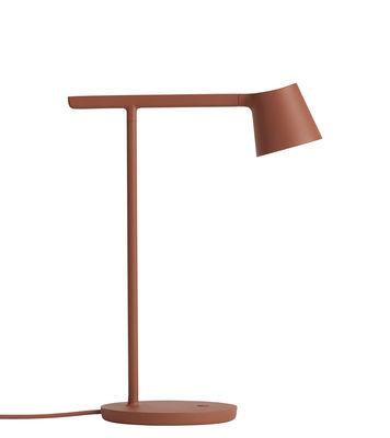Illuminazione - Lampade da tavolo - Lampada da tavolo Tip LED - /Metallo - Orientabile di Muuto - Mattone - Alluminio