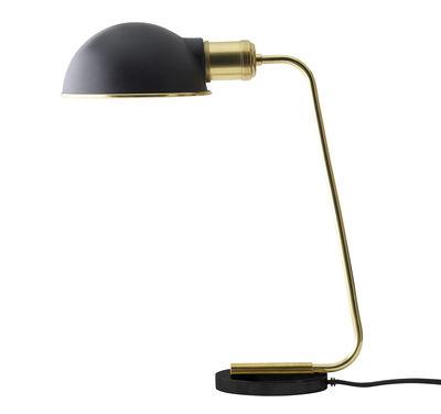 Luminaire - Lampes de table - Lampe de table Collister / H 38 cm - Laiton & acier - Menu - Noir / Laiton - Acier poudré, Laiton massif