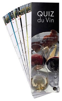 Accessoires - Jeux et loisirs - Livre Quiz du Vin jeu de 240 fiches questions-réponses - L'Atelier du Vin - 240 questions/réponses - Version française - Papier