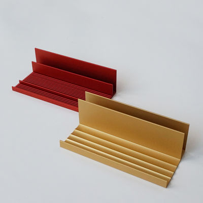 Organiseur de bureau Process-s / Set de 2 - Pauline Deltour - Iconic Serie - Designerbox or,rouge brique en métal