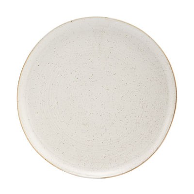 Tableware - Plates - Pion Plate - / Ø 28 cm - Porcelain by House Doctor - Grey-white - Enamelled china