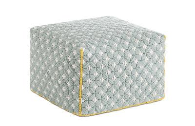 Furniture - Poufs & Floor Cushions - Silaï Small Pouf - 52 x 52 x H 35 cm by Gan - Celadon - Wool