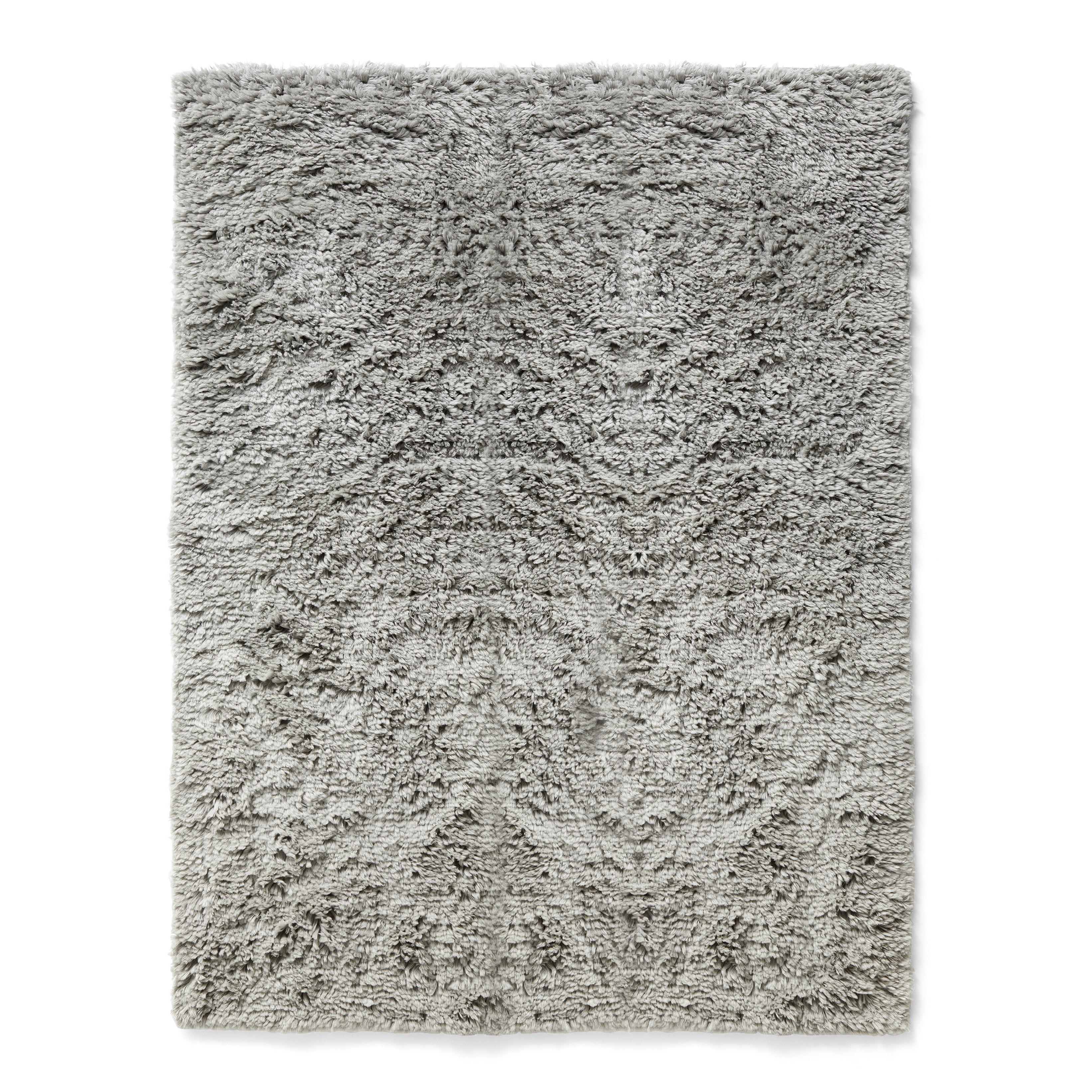 Decoration - Rugs - Shaggy Rug - / 140 x 200 cm - Deep pile by Hay - 140 x 200 cm / Hot grey - Wool