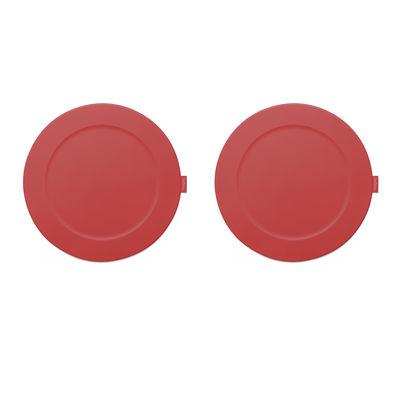 Set de table Place-we-met / Set de 2 - Silicone souple - Fatboy rouge industriel en matière plastique