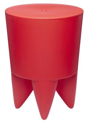 Arredamento - Sgabelli - Sgabello New Bubu 1er opaco /  Contenitore Plastica - XO - Rosso - Polipropilene