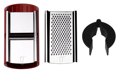 Kitchenware - Kitchen Equipment - Slicer by Malle W. Trousseau - Red / Metal - Tremped stainless steel