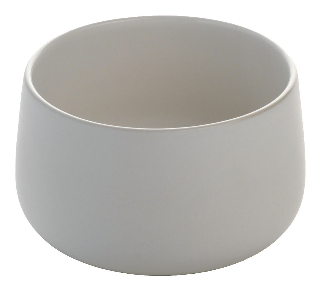 Tableware - Bowls - Ovale Small dish by Alessi - White - Stoneware ceramic