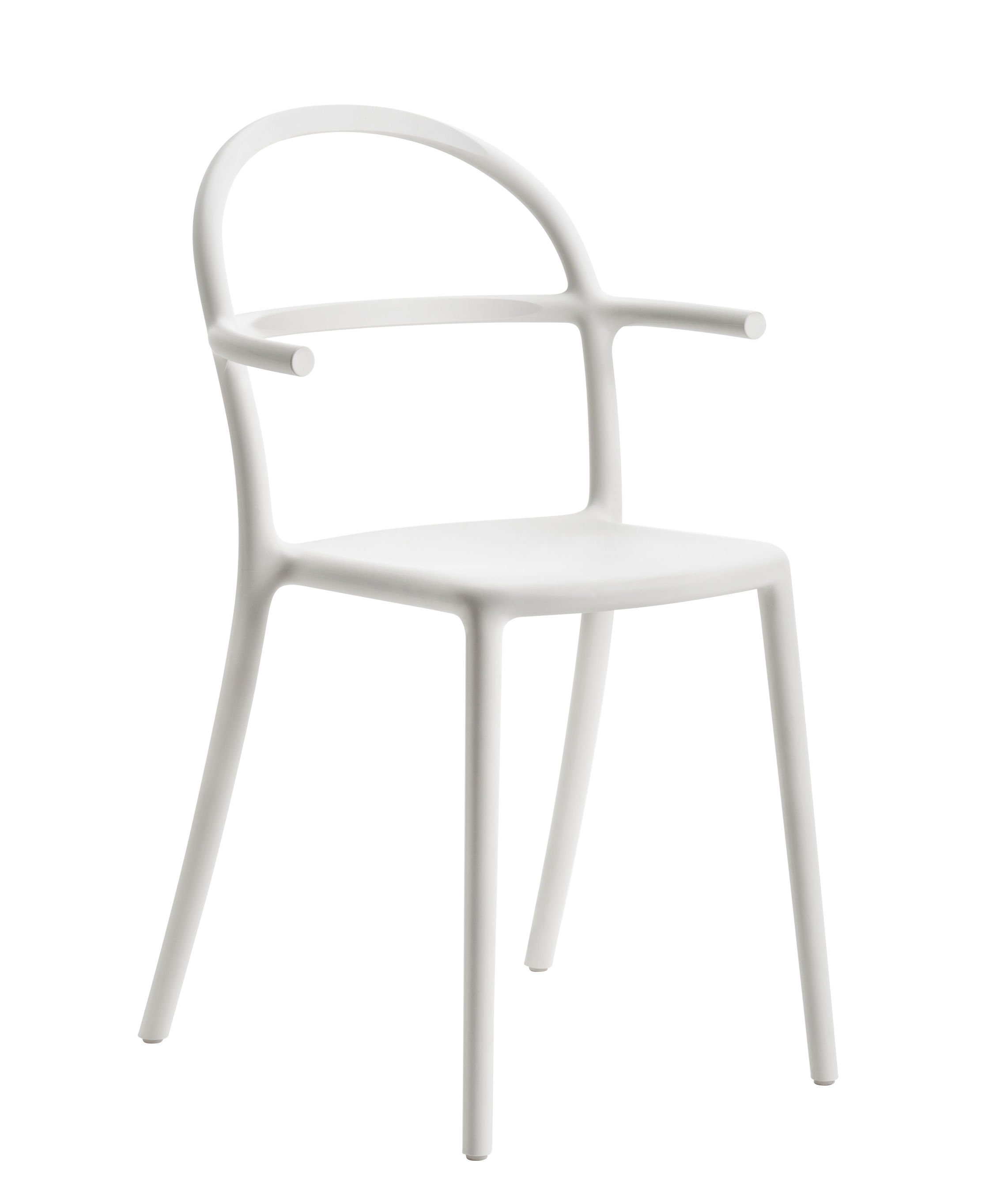 Furniture - Chairs - Generic C Stackable armchair - / Polypropylene by Kartell - White - Polypropylene