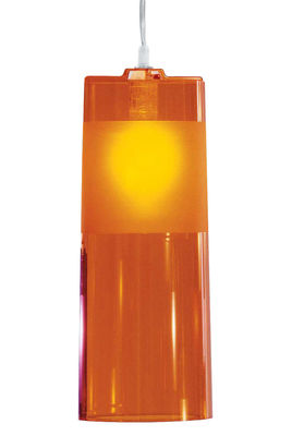 Suspension Easy - Kartell orange en matière plastique