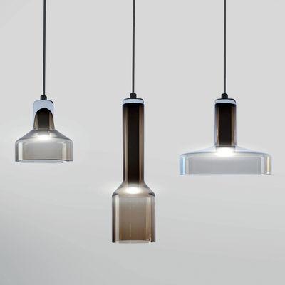 Suspension Stab Light Triple / Set 3 suspensions - Verre artisanal - Danese Light marron en verre
