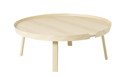 Table basse Around XL / Ø 95 x H 36 cm - Muuto frêne naturel en bois
