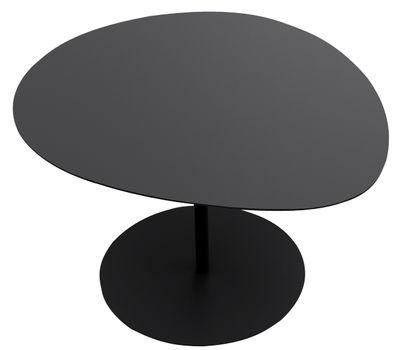 Table basse Galet n°1 / INDOOR - 59 x 63 - H 39,9 cm - Matière Grise noir en métal