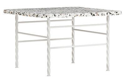 Mobilier - Tables basses - Table basse Terra Large / 55 x 55 x H 36 cm - Terrazzo - Normann Copenhagen - Beige - Acier laqué époxy, Terrazzo