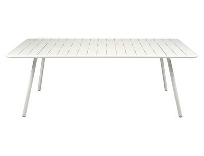 Table Luxembourg / 8 personnes - 207 x 100 cm - Aluminium - Fermob blanc en métal