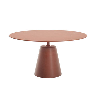 Jardin - Tables de jardin - Table ronde Rock OUTDOOR / Ø 140 cm - Béton - MDF Italia - Terracotta - Acier, Béton