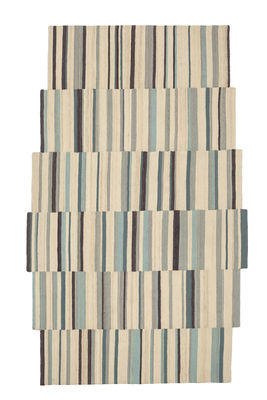 Interni - Tappeti - Tappeto Lattice 2 / 148 x 240 cm - Nanimarquina - Tonalità ecrù / Multicolore - Lana afghana