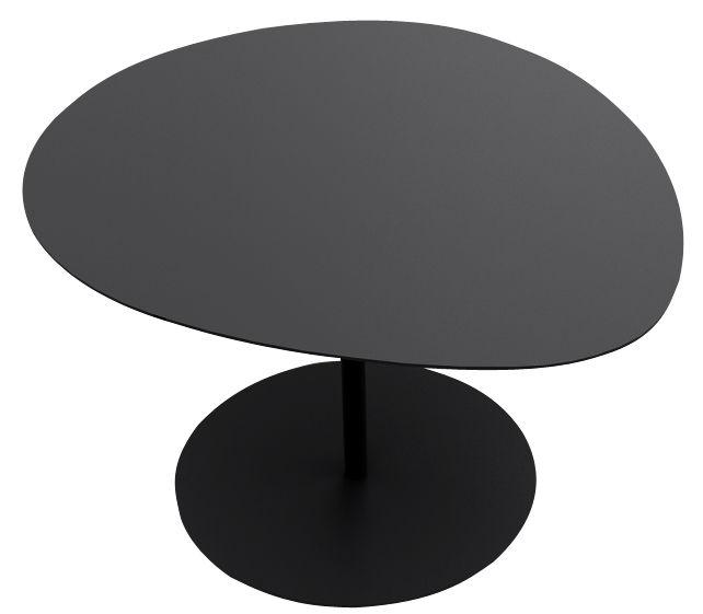 Arredamento - Tavolini  - Tavolino 3 Galets - H 40,2 cm di Matière Grise - Nero - Acciaio