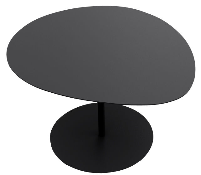 Arredamento - Tavolini  - Tavolino Galet n°1 - H 40,2 cm di Matière Grise - Nero - Acciaio