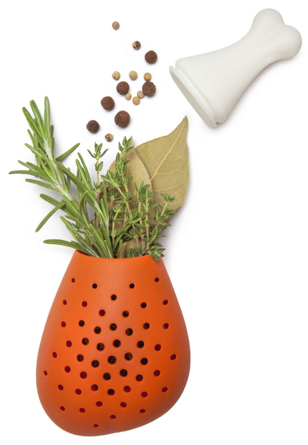 Küche - Küchenutensilien - Pulke Tee-Ei - Pa Design - Orange - Silicone alimentaire