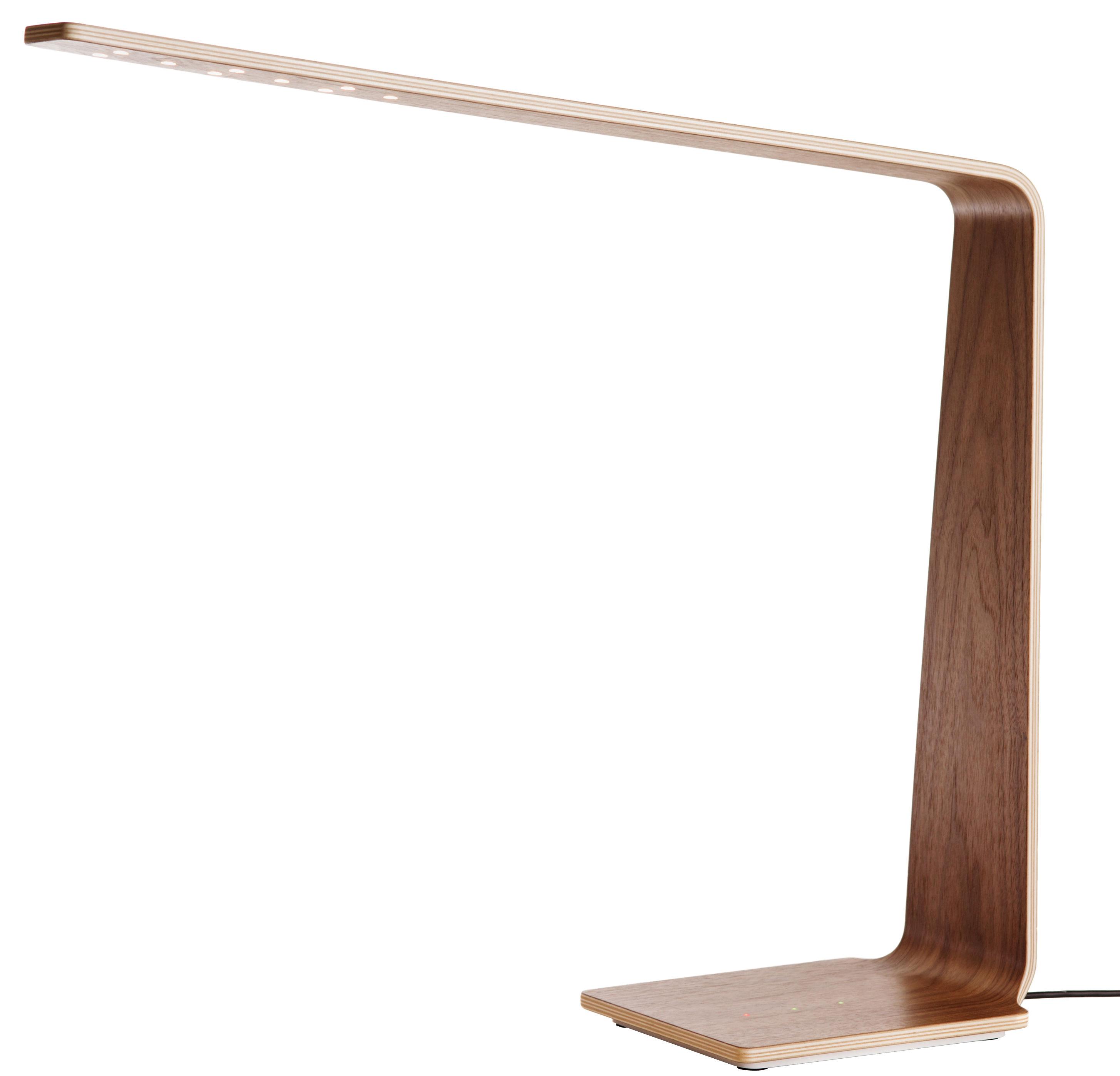 Leuchten - Tischleuchten - LED4 Tischleuchte / H 52 cm - Tunto - Nussbaum - Nussbaum