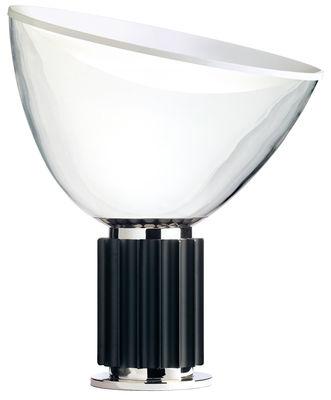Leuchten - Tischleuchten - Taccia LED Tischleuchte - Flos - Sockel schwarz - Aluminium, mundgeblasenes Glas