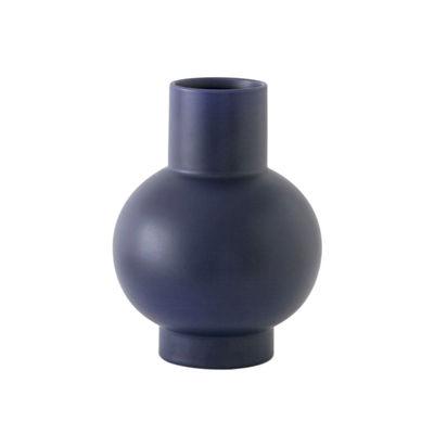 Déco - Vases - Vase Strøm Large / H 24 cm - Céramique / Fait main - raawii - Bleu - Céramique