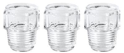 Verre Machine Collection / H 10 cm - Set de 3 - Diesel living with Seletti transparent en verre