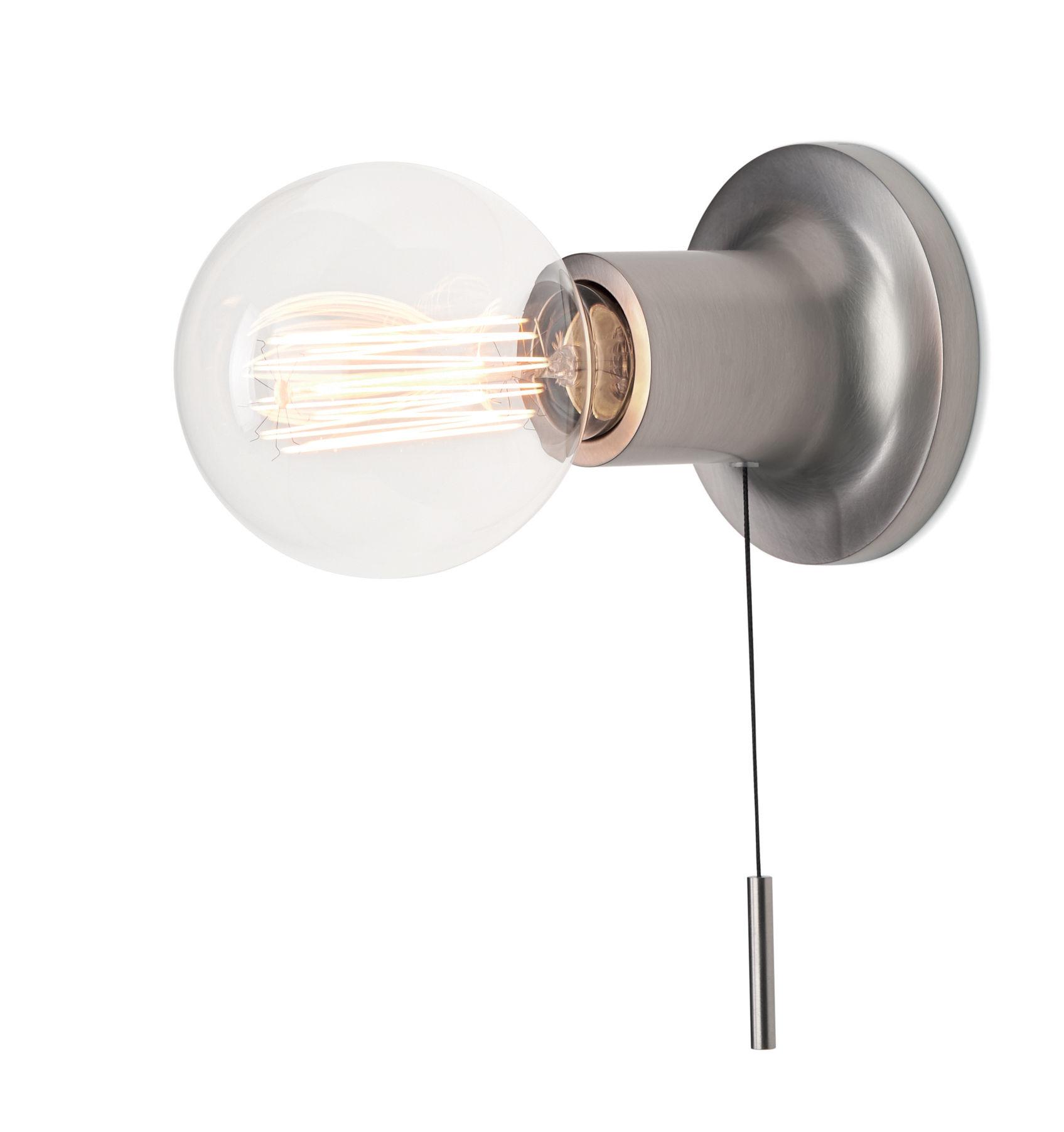 Illuminazione - Lampade da parete - Applique Punt - / Con interruttore di Carpyen - Nickel - Ghisa di alluminio