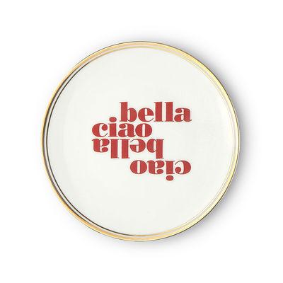 Assiette à dessert Ciao bella / Ø 17 cm - Bitossi Home blanc,rouge en céramique