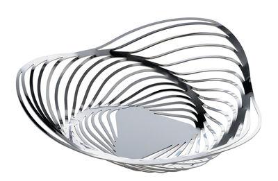 Tableware - Fruit Bowls & Centrepieces - Trinity Basket - Ø 26 x H 7 cm by Alessi - Polished steel - Polished steel