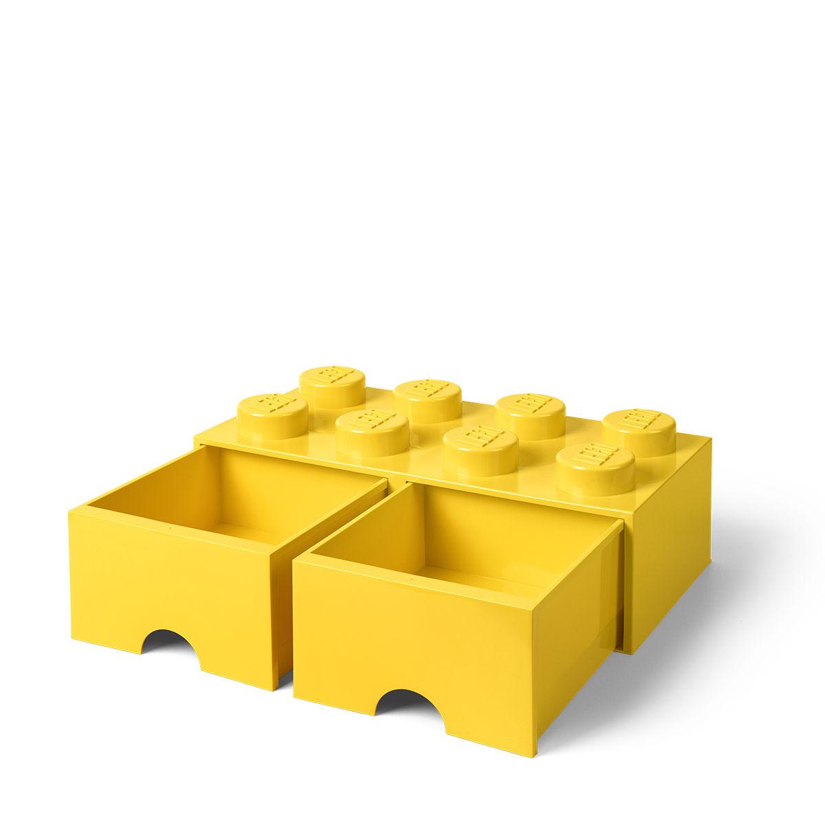 boîte lego® brick room copenhagen - jaune - l 50 x l 25 x h 18