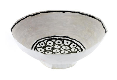Decoration - Centrepieces & Centrepiece Bowls - Bowl - Ø 15,5 x H 5,5 cm / Hand painted paper by Serax - Black & white - Papier maché