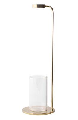 Decoration - Vases - Stem Bud vase - H 32 cm - Brass & crystal by Menu - Brass / Transparent - Brass, Cristal