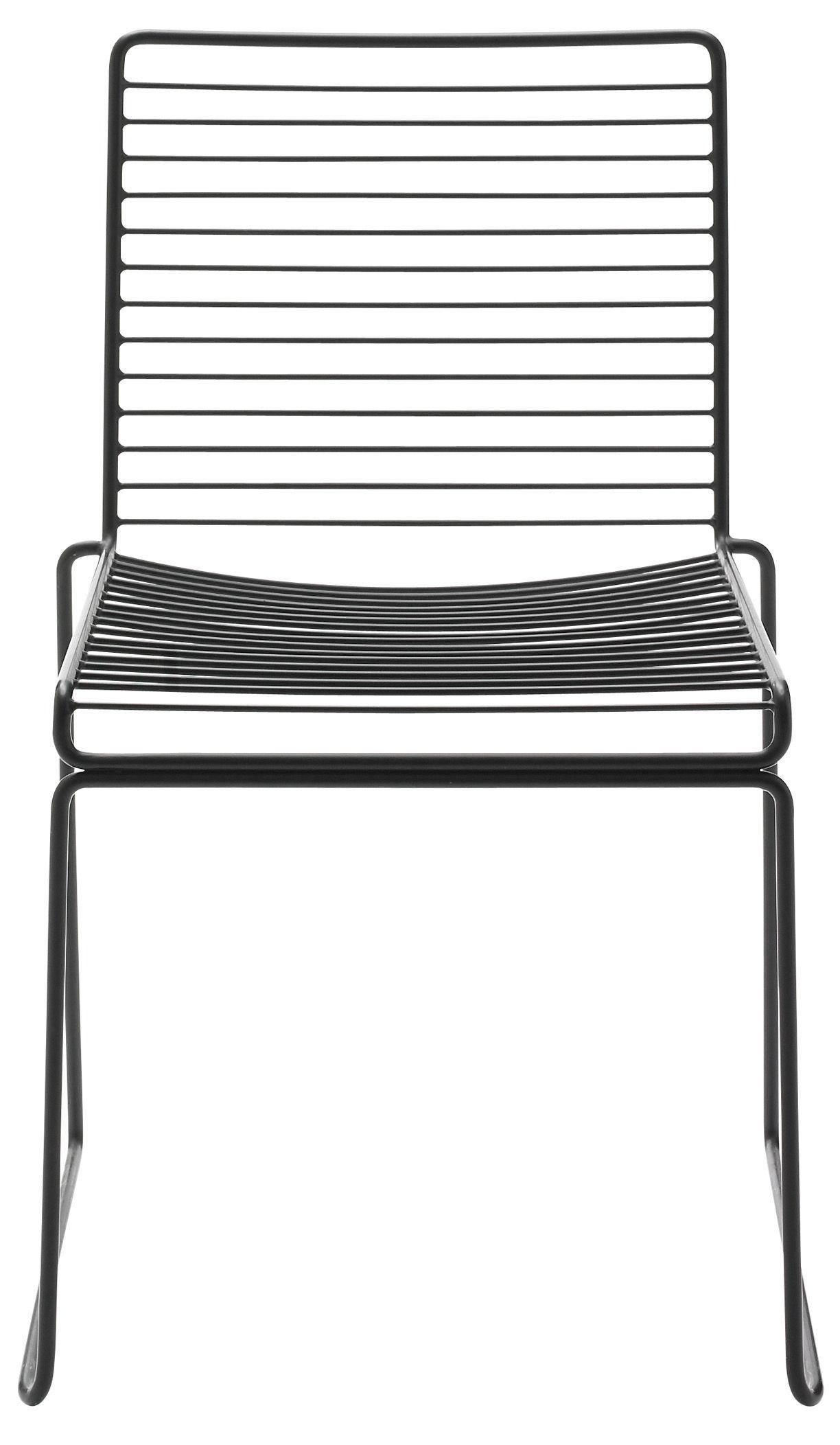 Mobilier - Chaises, fauteuils de salle à manger - Chaise empilable Hee / Métal - Hay - Noir - Acier laqué