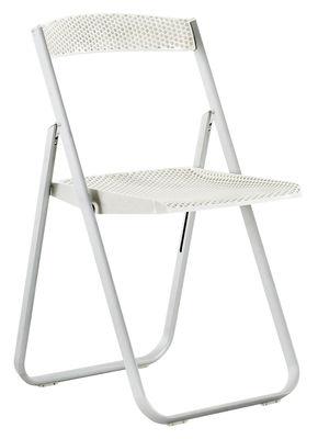 Chaise pliante Honeycomb Polycarbonate structure métal Kartell blanc opaque en matière plastique