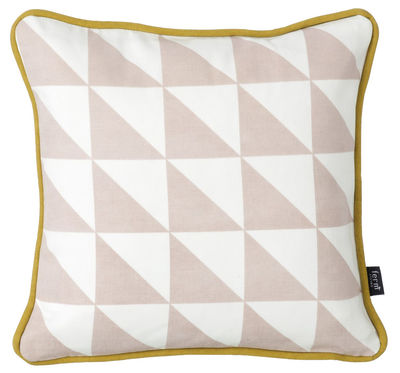 Déco - Coussins - Coussin Little geometry / coton bio - 30 x 30 cm - Ferm Living - Rose & blanc - Coton