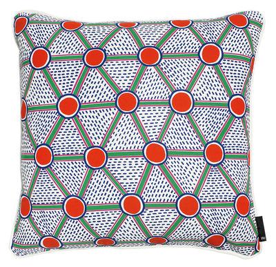 Dekoration - Kissen - Printed Kissen / 50 x 50 cm - Hay - Grün, rot und blau -  Plumes, Baumwolle