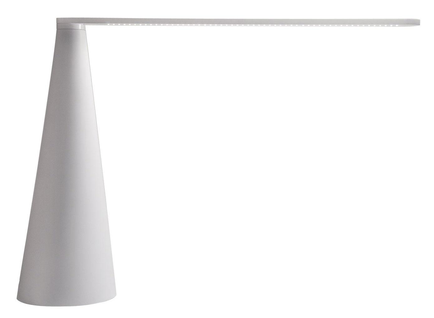 Luminaire - Lampes de table - Lampe de table Elica grand modèle H 52 cm - Martinelli Luce - Blanc - Aluminium