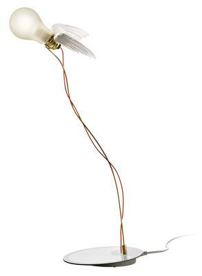 Luminaire - Lampes de table - Lampe de table Lucellino / LED - Ingo Maurer - Blanc & rouge - Métal, Plume