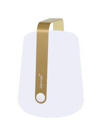 Leuchten - Tischleuchten - Balad Small LED Lampe ohne Kabel / H 25 cm - mit USB-Ladekabel - limitierte Auflage - Fermob - Gold Fever - Aluminium, Polyäthylen